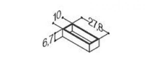 DANSANI 305210016 Kassette, 10 cm, Tiefe 27,8 cm