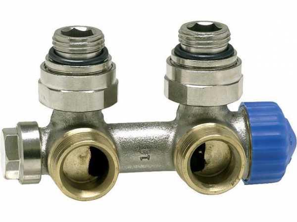 Heimeier 3855-02.000 Multilux Th-Ventil für HK mit mittigem Anschluss Einrohrsystem Eckform