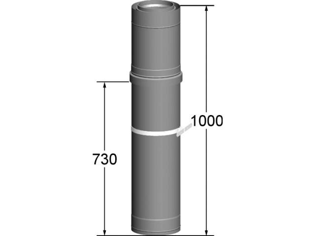 2651655 Wolf Dachdurchführung DN80/125 L:1000mm für Fassadensyste