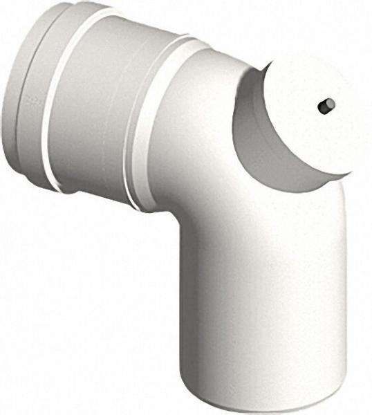 Kunststoff-Abgassystem Bogen 87° mit Prüföffnung DN 60