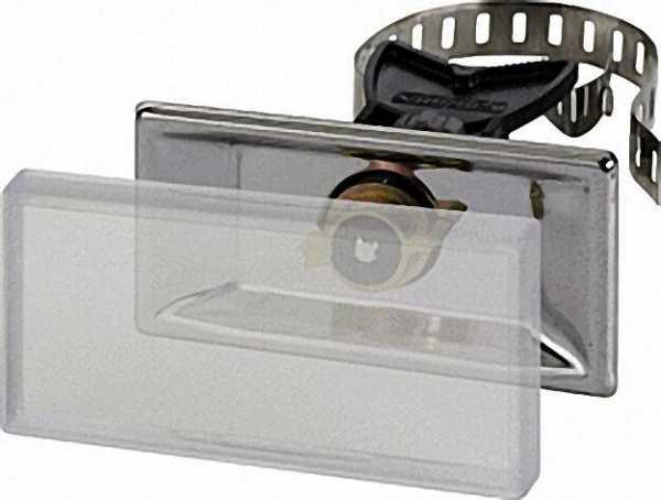 Universalhalter mit Spannband Edelstahl (V2A) VPE 10 Stück