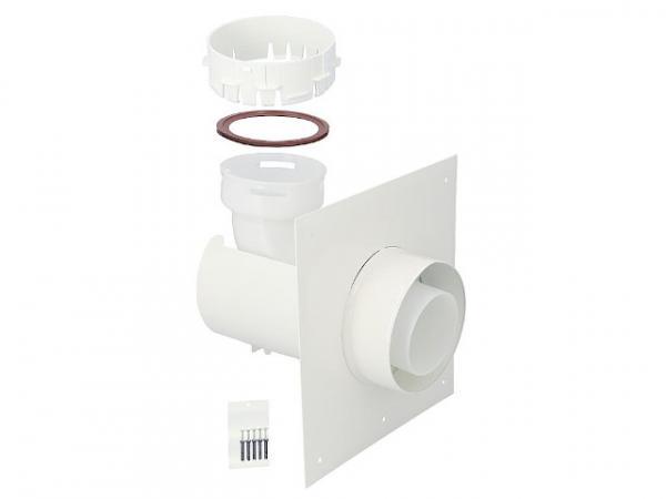 CondensBlue Wand-Anschlussblende für flexibles Rohr, 87° AZ DN 60/100