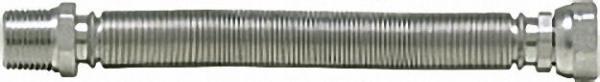 Edelstahlwellschlauch 3/4'' ausziehbar von 500 - 1000mm 3/4'' AG x 3/4'' ÜWM