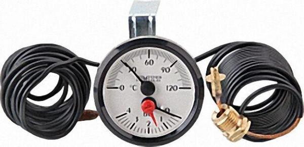BUDERUS/SIEGER Thermomanometer RD52, weiß, V2, passend für Buderus GB102/112