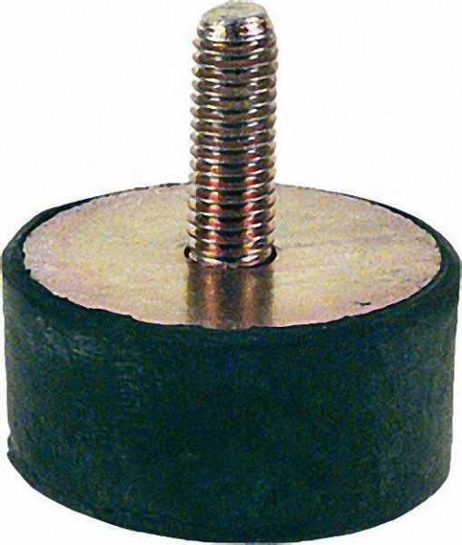 Gummifeder Typ D 20 x 20mm, AG M 6 x 15mm