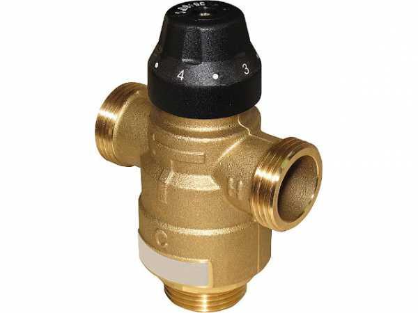 Thermomischer Easyflow Typ 736, DN20, 45-70°C, kv 2,5 Anschlüsse: AG DN25 (1')