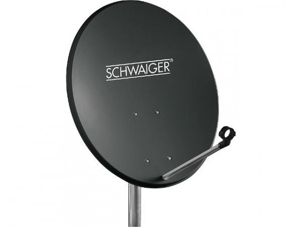 Offset Antenne 55cm Stahl Anthrazit RAL 7011