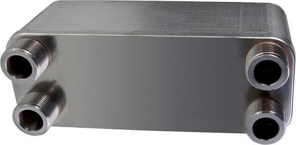 Plattenwärmetauscher P30 4x 3/4'' AG 10bar 27 KW 30 Platten ZB 10/30