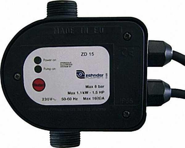 Druckschalter mit Trockenlauf schutz ZD 15 230V - 1'' AG