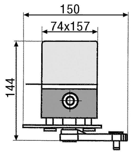 Stellmotor MV 120/360 mit Universal Anbausatz für Mischer ab DN40