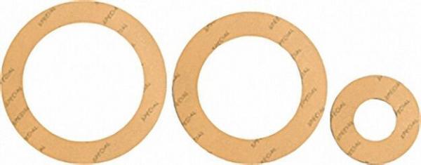 Spezial-Flanschdichtung DN=65 PN=10 65 x 122mm 2mm stark/ gelb