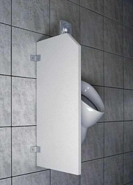VILLEROY & BOCH Urinal-Trennwand wandhängend, 400x900mm, weiß, inklusive Befestigung