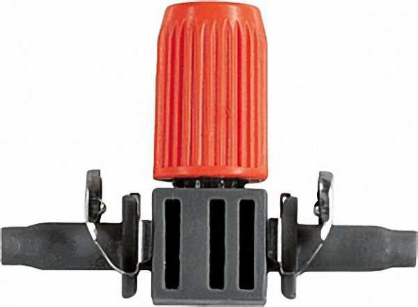 GARDENA Regulierbarer Reihentropfer 10 Reihentropfer, 1 Verschlusskappe. Mit Quick&Easy-Einfachverbi