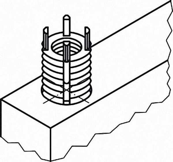 Gewindeeinsatz IG M10x1, 25 / AG M14x1,5