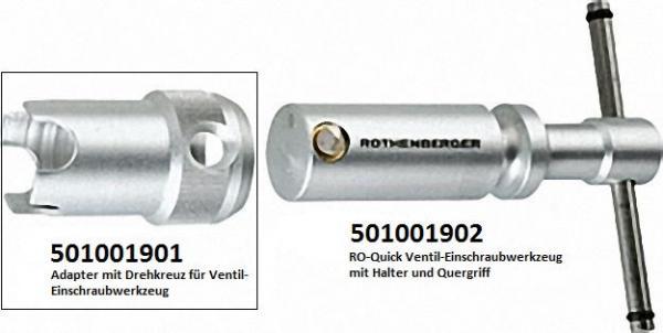 Adapter mit Drehkreuz passend für RO-Quick Ventil-Einschraubwerkzeug