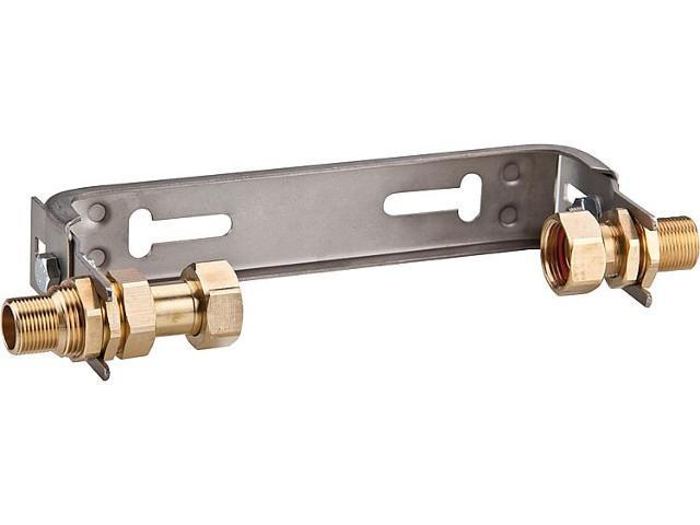 Wasserzähler-anschlussbügel Edelstahl V2A Qn 2,5 1'' x 1'' Mit verstel