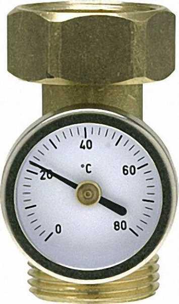 MAGRA Thermometer mit ZwischenStück 1/2'' Skalenring 0-80°