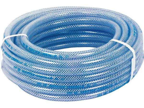 PVC-Schlauch transparent mit Polyestergewebe, Lebensmittelecht 50m, 20bar, 10x16mm, -20°- +60°C