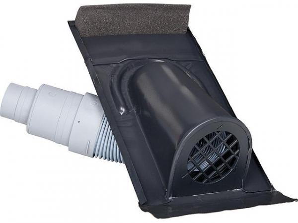 Entlüftungshaube Typ Ton mit PVC-Schlauch, schwarz-grau