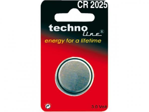 Knopfzelle Lithium CR 2025 3V 1 Stück im Blister