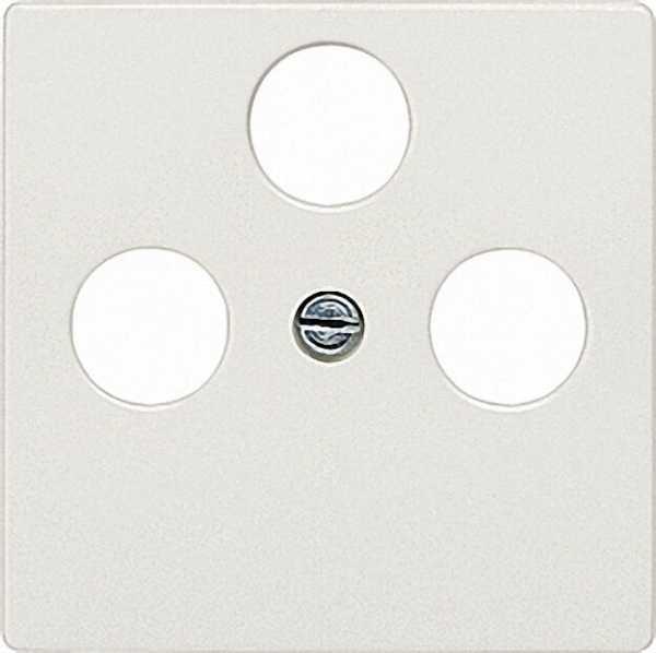 Abdeckplatte für TV/SAT-Anschluss aluminiummetallic/ Schutzart IP20 3-Loch-Ausführung / 1 Stück