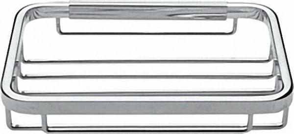 Schwammkorb rechteckig, messing verchromt mit verdeckter Befestigung