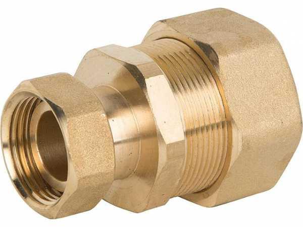 Verschraubung für Spiralrohr DN20x1' IG-ÜWM Messing mit Graphit Hochtemperaturdichtung
