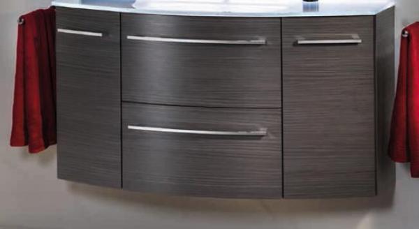 LANZET 7240112 S2 Waschtischunterschrank:, 140X63X45cm, Dark Oak, 2 Schubladen