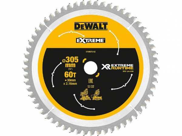 DeWalt Kreissägeblatt XR Extreme Runtime, ø 305x30 mm 60 Zähnen