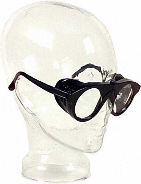 Nylonbrille farblos splitterfrei Glas 50mm rund