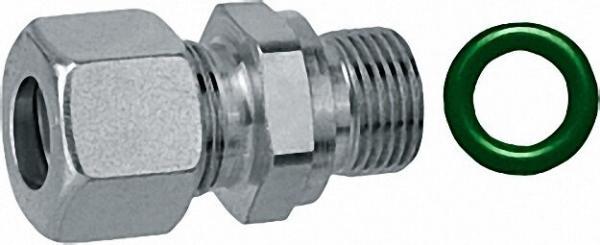 Edelstahl-Einschraubver- schraubung G 3/8 zylindrisch x 8mm inklusive Spezialdichtung