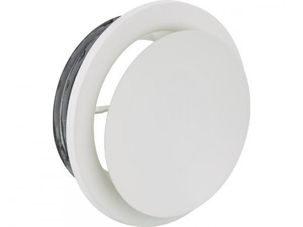Tellerventil NW 125 für Zu- und Abluft Metall weiß