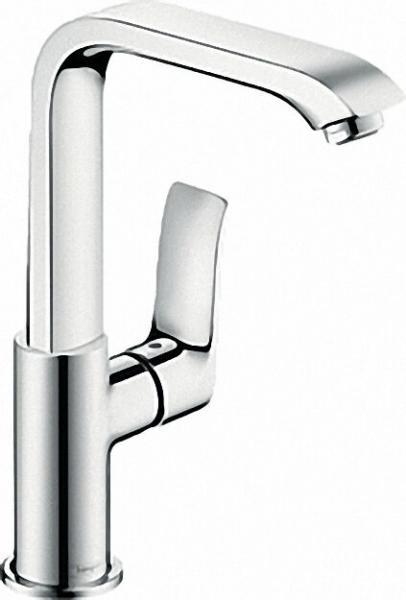 Einhebel-Waschtischmischer Serie Metris inkl Ablaufgarnitur ComfortZone 230, Schwenkauslauf
