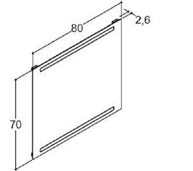 DANSANI 91380 Spiegel mit horizontal intergrierter Beleuchtung 80 cm inkl. Sensorschalter