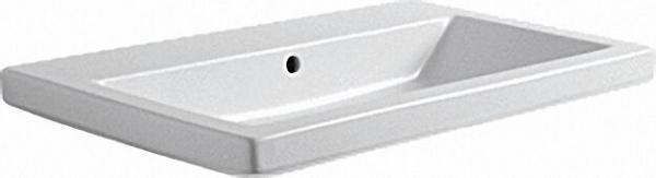 Keramikwaschtisch Thin o. Hahnloch BxT=75x45cm/rechteckig