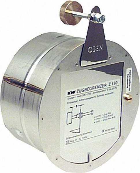 KW-Zugbegrenzer Reglerklappe Standard Z 150mm durch