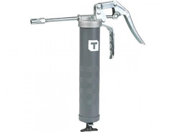 Einhand-Fettpresse mit 150mm Düsenrohr und Hydraulik,Greif- kupplung für 400g Kartusche