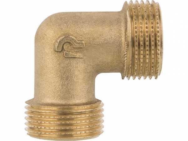 Winkelstück Messing 90° AG/AG 3/4x3/4' PN10