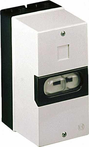 Isolierstoffgehäuse IP55 für Motorschutzschalter 150 x 80 x 97,5mm, grau/schwarz