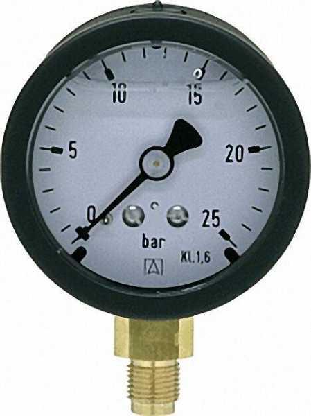 Manometer 50 durch 1/8'' unten 0-25 bar mit Glyzerinfüllung