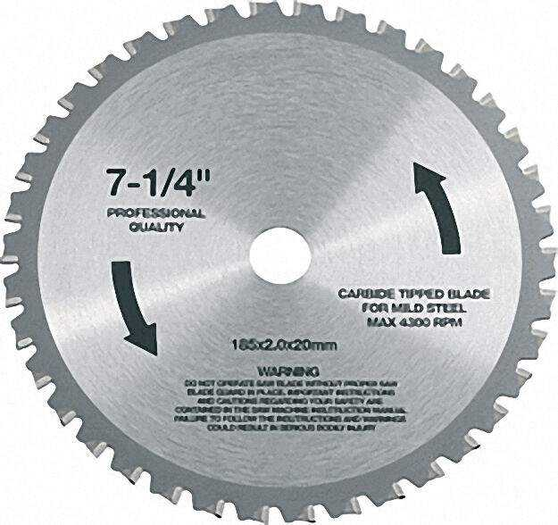 Hm-sägeblatt für Metall-Handkreissäge CSM 4060 185x20mm