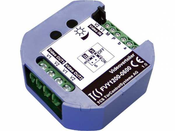 Videoverteiler TCS 2-fach für UP Dosen einbau
