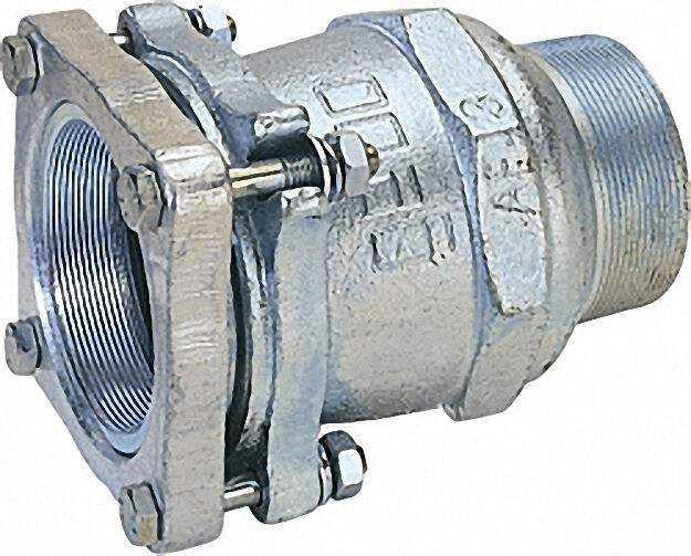 Temperguss-Klemmverbinder mit AG Gas PN 1, Wasser PN 16, Typ AF 3