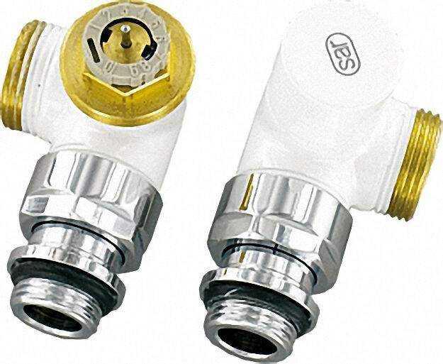 Design-thermostatventil-set Winkeleckform D 3933 DN15 (1/2'') AG 3/4''