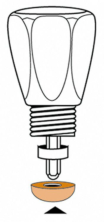 Ventil-dichtung 16,5 mm 1/2 '', 5,8 x 16,5 mm VPE 1 Stück