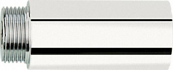 DistanzStück für einseitigen Armaturenanschluss 3/4x63mm Messing verchromt