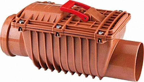Doppelklappiger Rückstauverschluss Typ2 Duoprotect 110mm