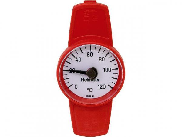Heimeier 0600-00.380 Thermometer zu Globo- Kugelhahn rot zum Nachrüsten für DN10-32