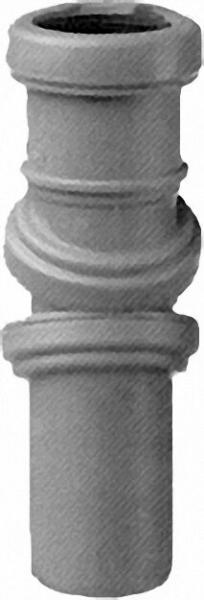 AIRFIT Jotiflex flexibler Rohrbogen 0-90° verstellbar grau 50mm Einzelmuffe