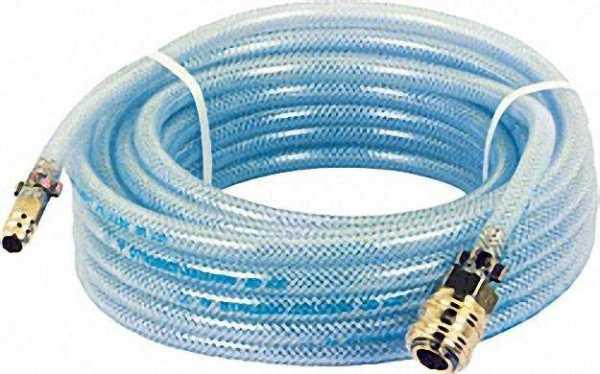 Druckluftschlauch mit Armaturen (Kupplung und Stecktülle) blau L= 5 m /9x13mm/15 bar